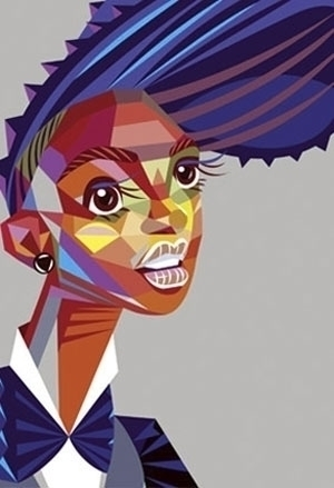 Janelle Monae portrait - illustration - yi-6998 | ello
