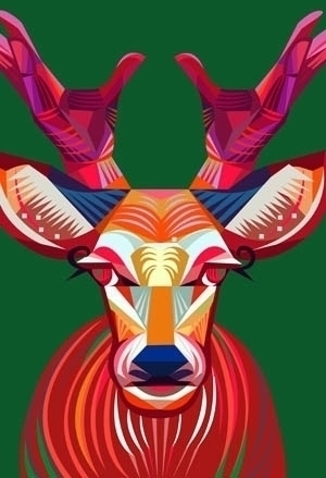 CHRISTMAS DEER - illustration, deer - yi-6998 | ello