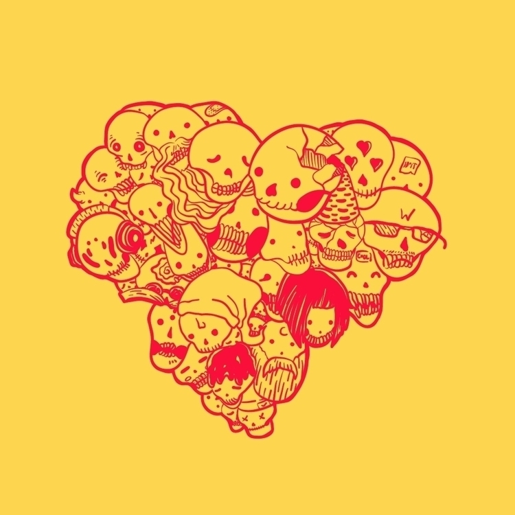 02 - inktober2015, heart, love, skulls - nickvcarro | ello