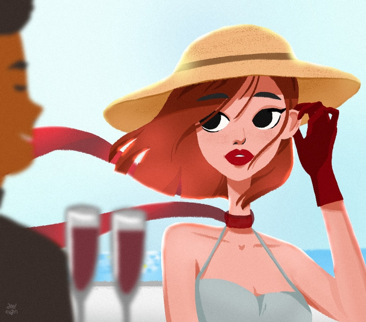 Cruise ship - illustration, animation - amynyan | ello