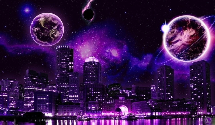 Purple Night - fantasyart - aldianlo | ello