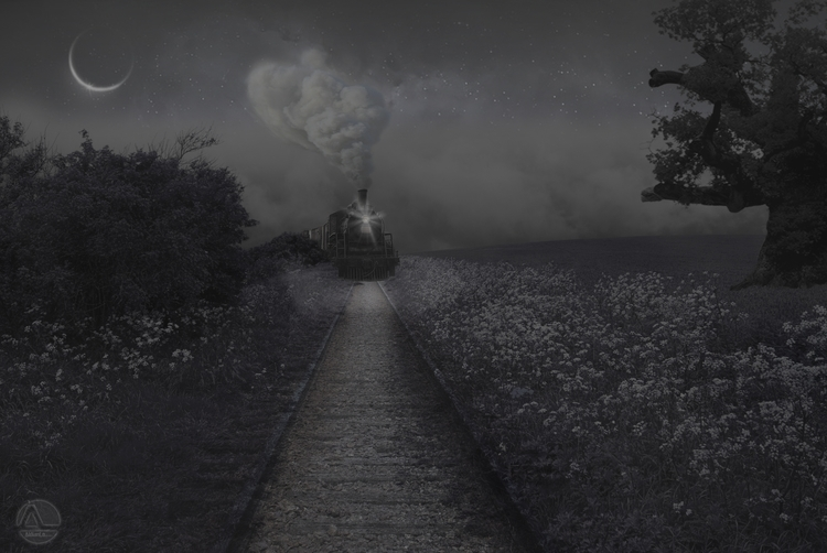 Night Train - fantasyart - aldianlo | ello