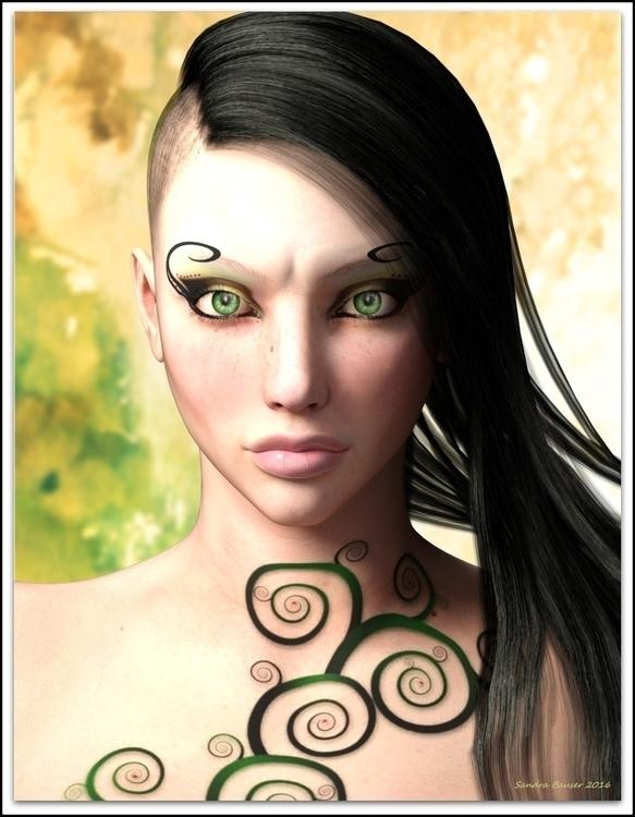 Ascenzio - portrait, fantasy, woman - sandrabauser | ello