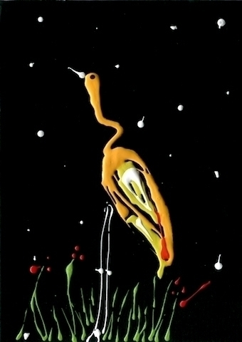 yellowbird, drippingpainting - palahoyos | ello