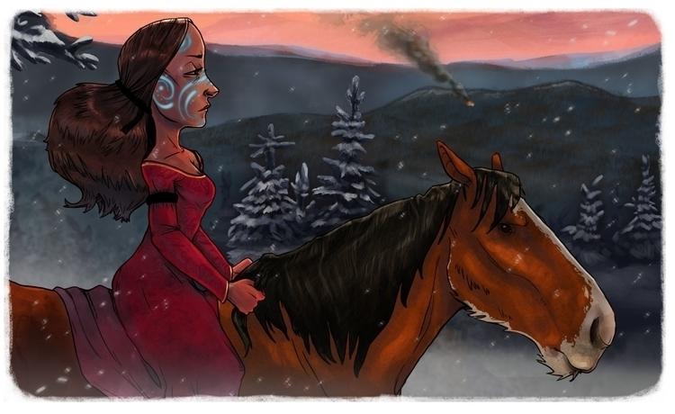 Mourning Fires - illustration - sqschwartz | ello