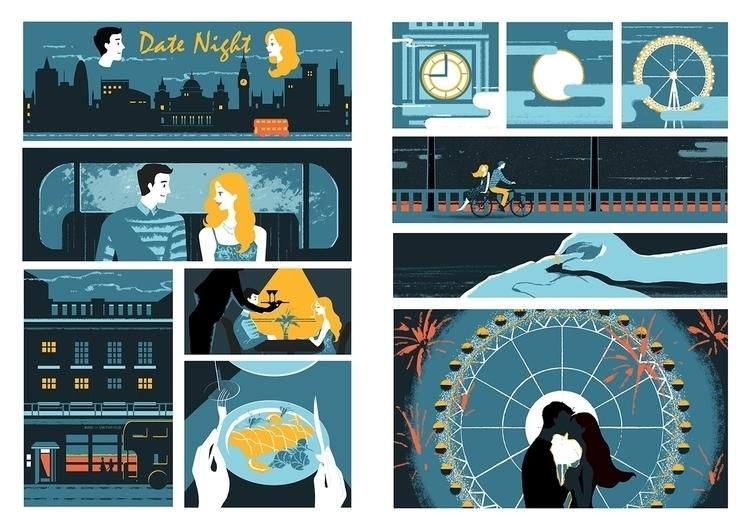 date night. Lifestyle comic - illustration - jasuhu | ello