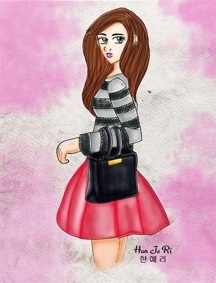 Romantic - illustration, drawing - hanjeri | ello