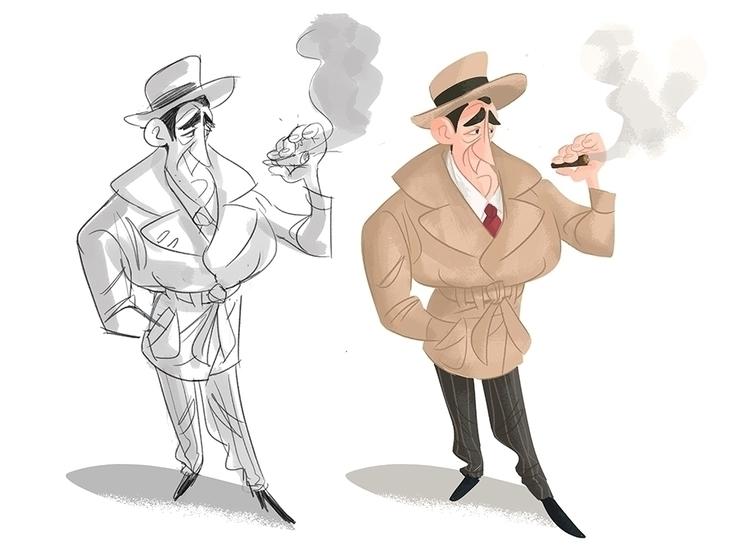 detective drew reason - characterdesign - drawandestroy   ello