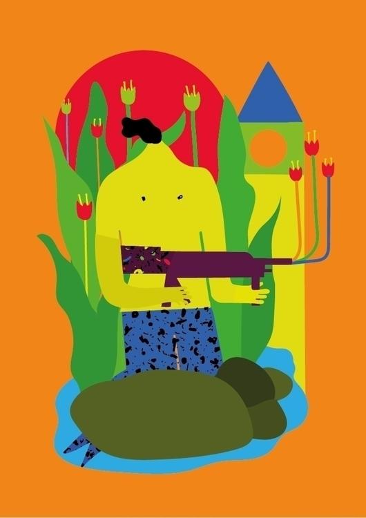 flowers guns - cover illustrati - ggiannatempo   ello