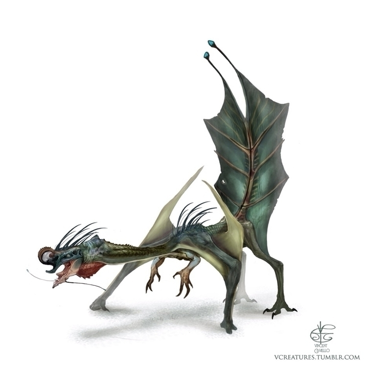 leafy dragon. Small dangerous - conceptart - vcreatures | ello