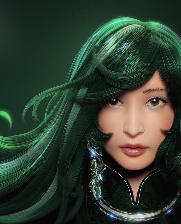 Emerald Flow - Character create - thundercloudstudio | ello