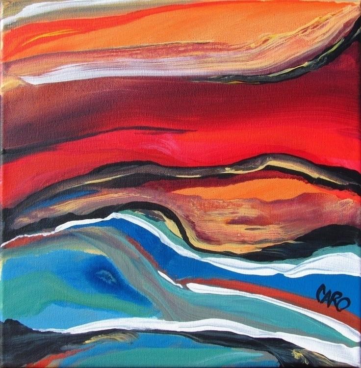 Mer 12po - acrylic painting - abstractpainting - caro-4683 | ello