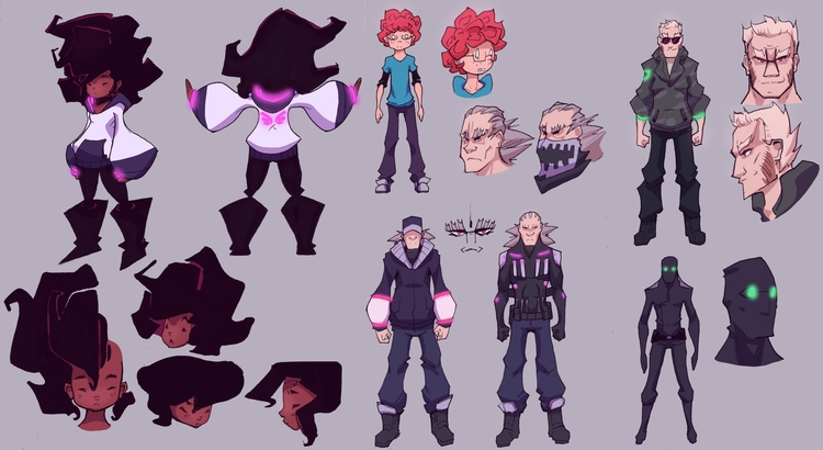 finalized character designs iss - grandpabats | ello