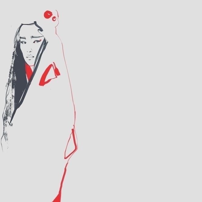oriental, asian, fashion, fashionillustration - murysina | ello