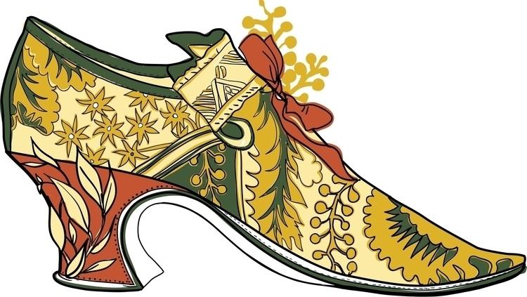 Vintage rococo shoe illustratio - gretaberlin | ello