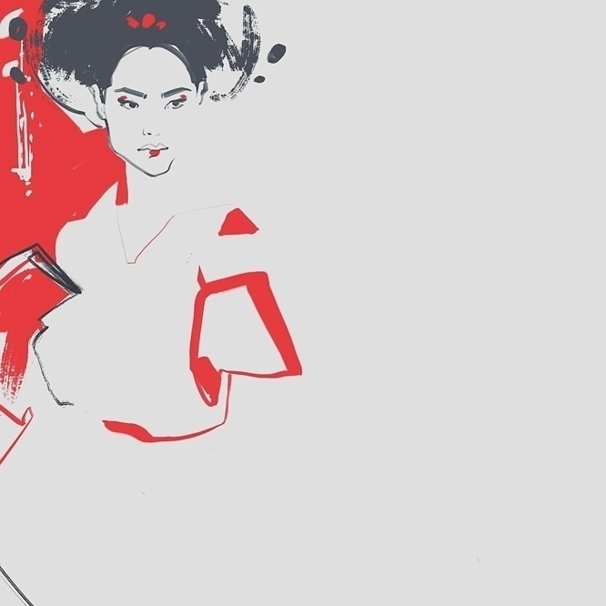 oriental, asian, fashion, fashionillustration - murysina | ello