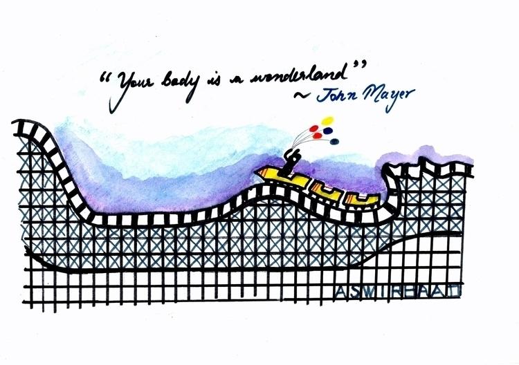 body wonderland- John mayer - illustration - aswirbaad24 | ello