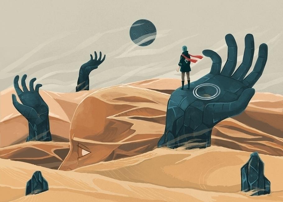 wanderer, desert, rocks, sand - renonogaj | ello
