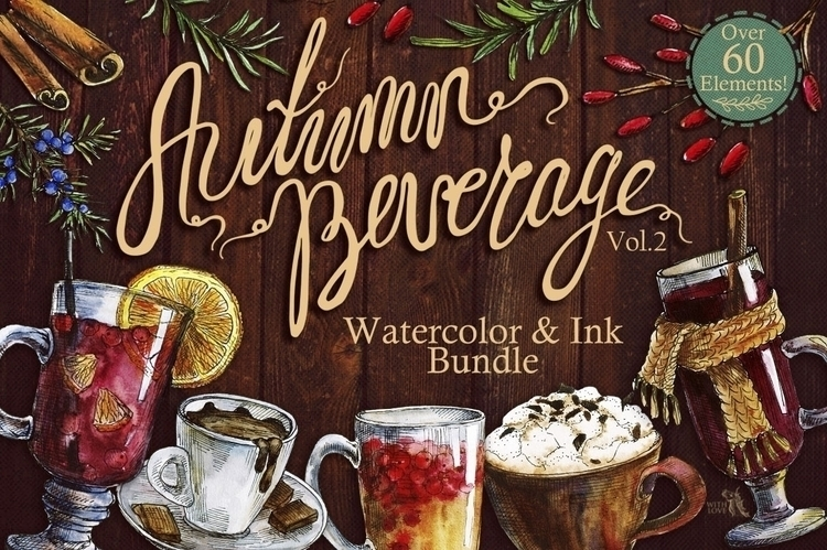 Autumn Beverage Watercolor Ink  - kate_vigdis | ello