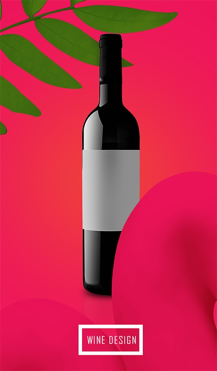 WINE - illustration, animation, painting - chichinadzekaloriakalori | ello