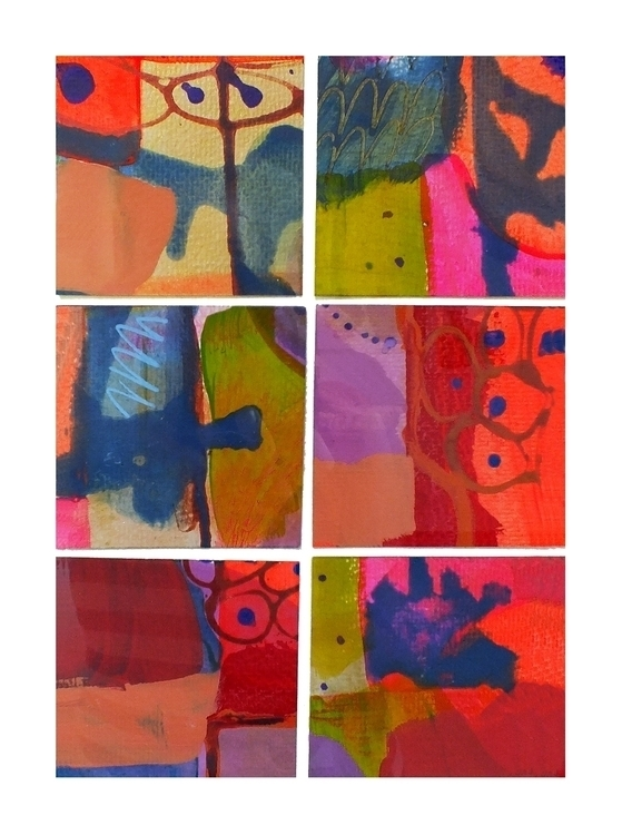 Pink Orange Abstract - collage, colour - janickejohansen | ello
