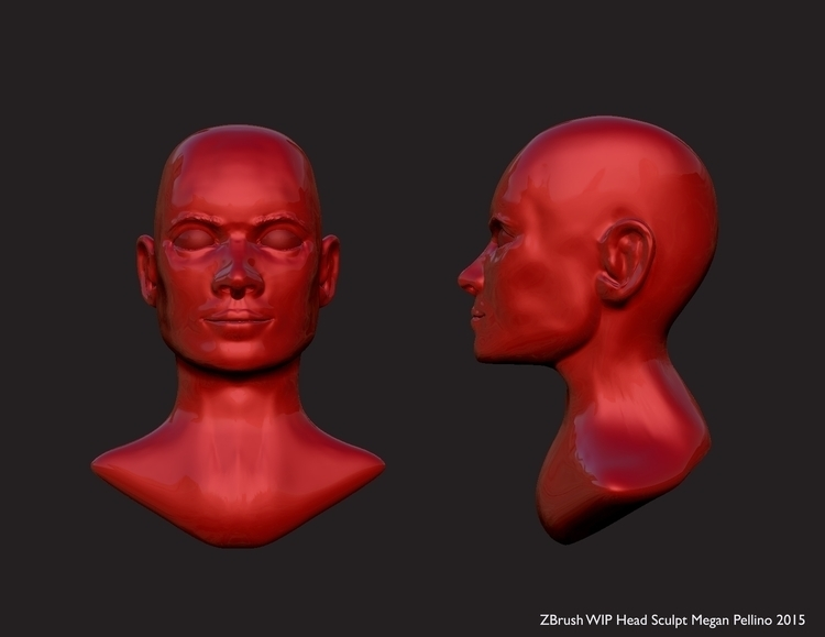 WIP ZBrush Sculpt - characterdesign - meganpellino | ello