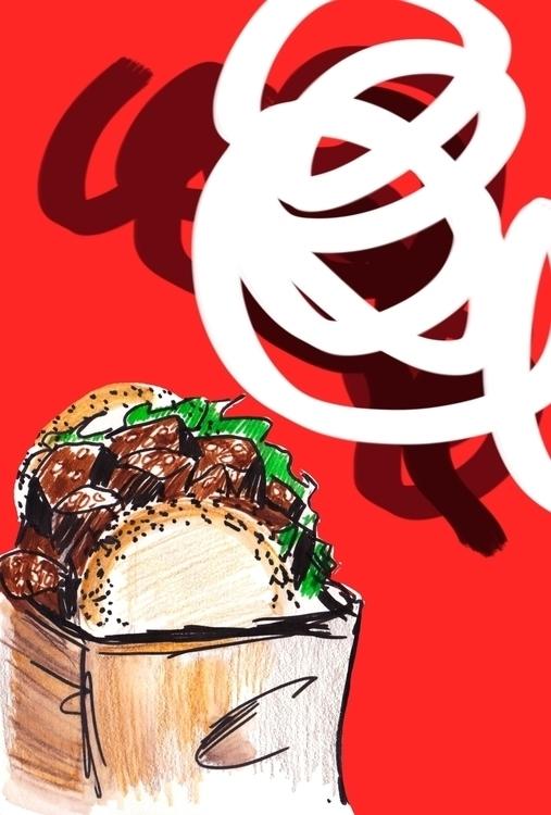Street food - illustration, foodillustration - reebek   ello