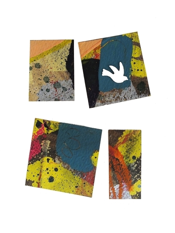 Abstract Bird 2 - abstract, collage - janickejohansen | ello
