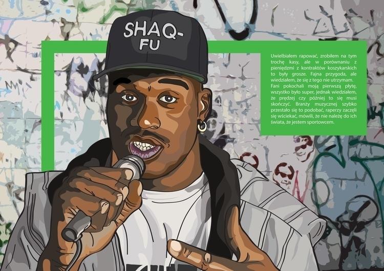Shaquille illustration - drawing - k_tomaszewski | ello