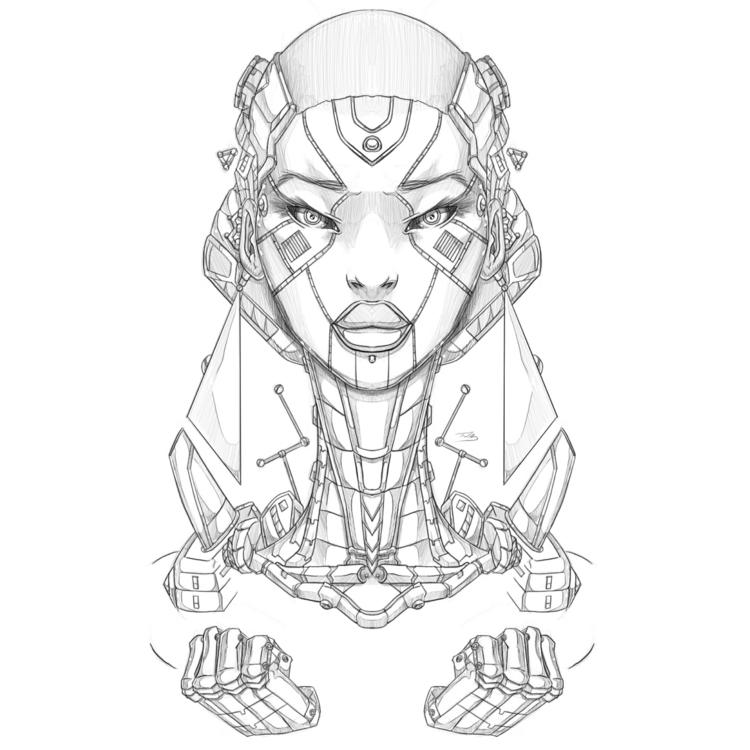 Afro-Mecha Series Piece ConStru - theonewillfocus | ello