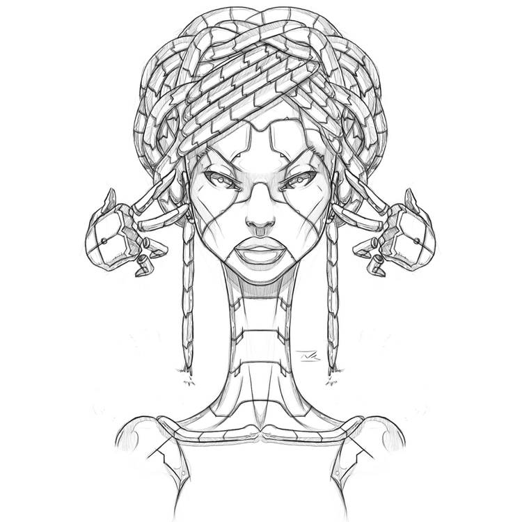 Afro-Mecha Series Piece Severan - theonewillfocus | ello