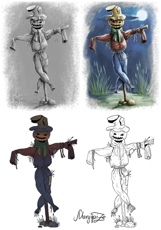Scarecrow - conceptart, drawing - maryquize | ello