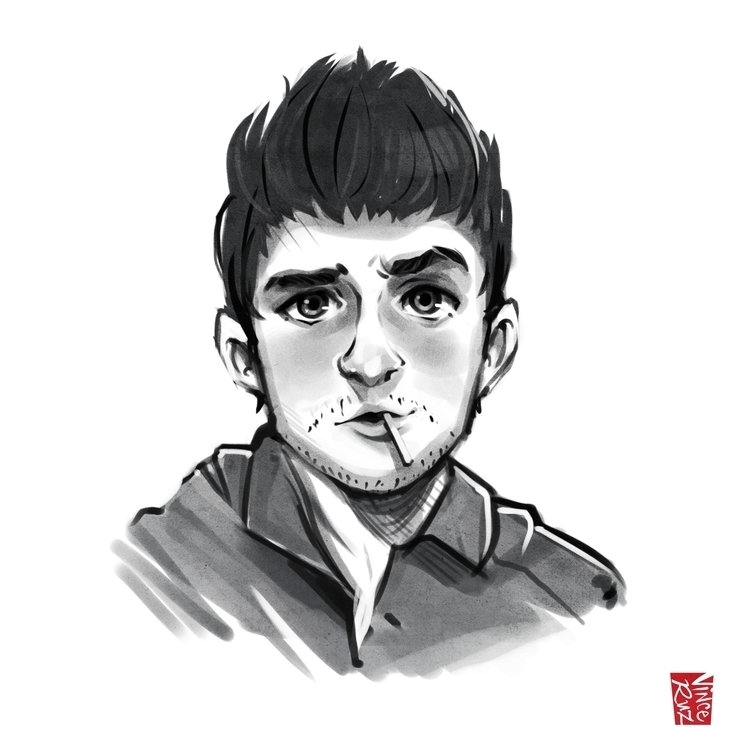 Male illustration - male, sketch - vinceruz | ello