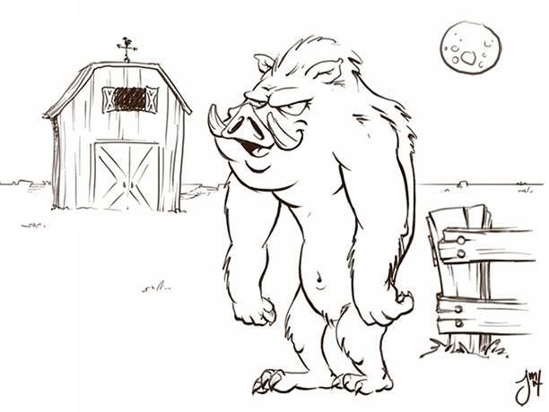 ?Daily Doodle - dailydoodle, werepig - jasonmartin-1263 | ello
