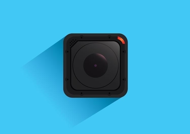 Gopro 4 session - vector, icon, illustration - dnscr | ello