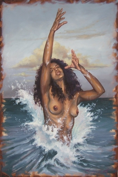 rebirth venus. Oil canvas - painting - laurence-4020 | ello