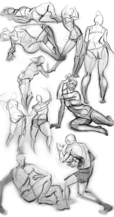 Daily gesture drawing - davidkelmer - dkelmer   ello