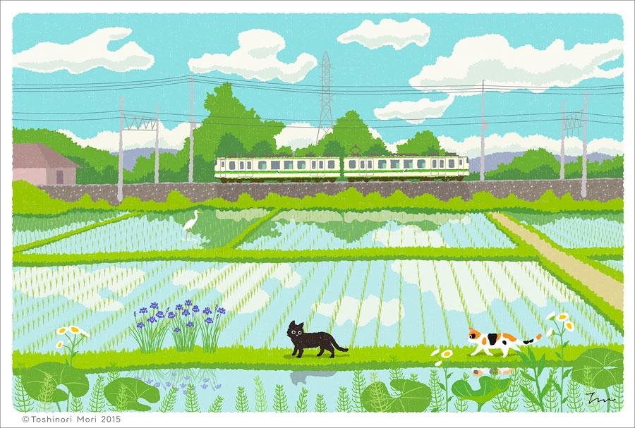 illustration drew black cat tor - guraguri | ello