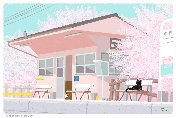 original illustration trip cat  - guraguri | ello