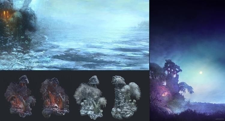 conceptart, 3d, gameart, environment - obonev | ello