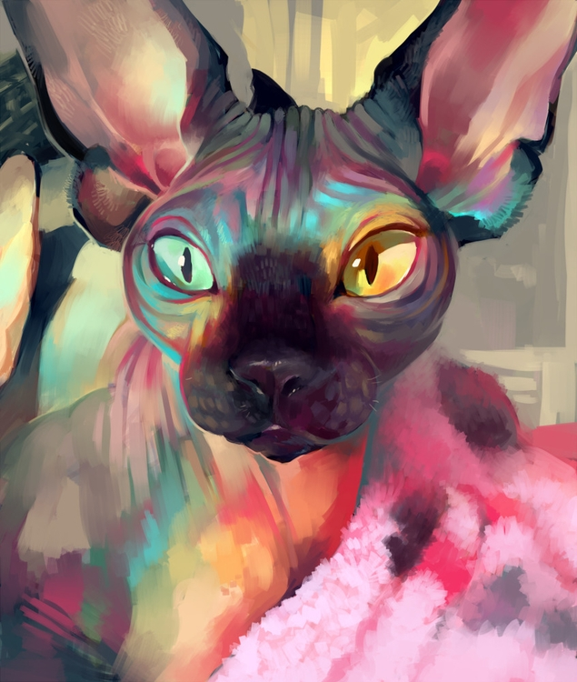 illustration painting video tut - glitchedpuppet | ello