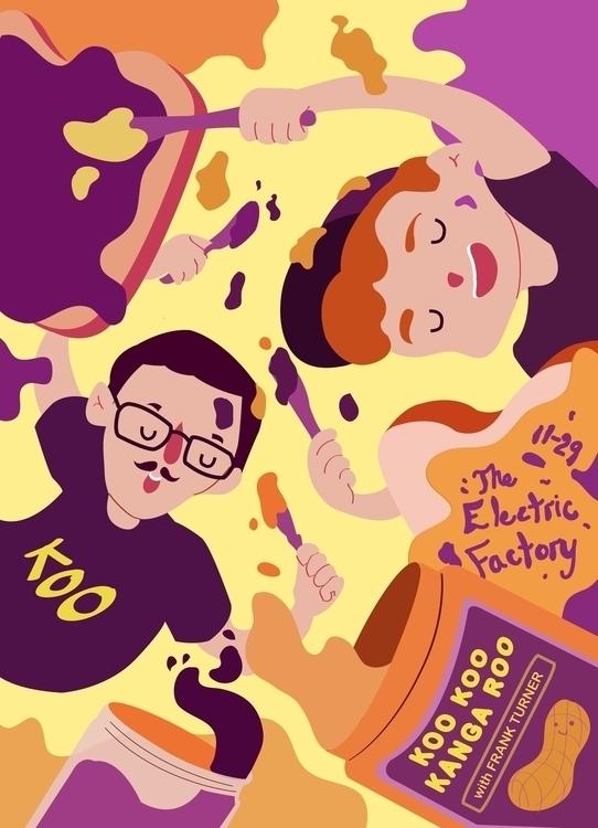 gig poster band Koo Kanga Roo - gigposter - beccasyracuse | ello