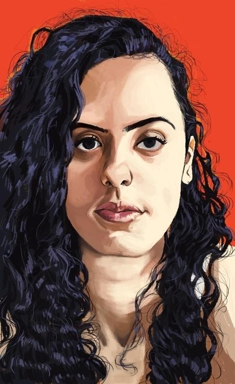 Anne - painting, portrait, portraitillustration - juserra | ello