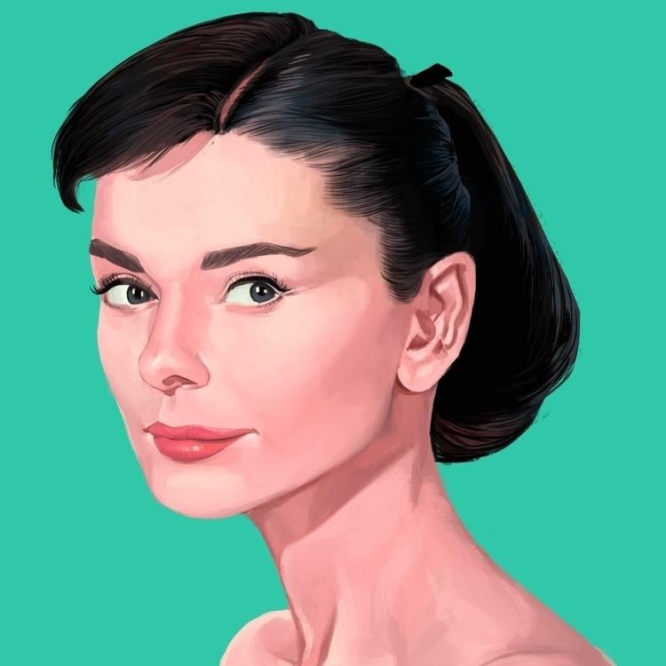 Audrey - illustration, digitalart - juserra | ello