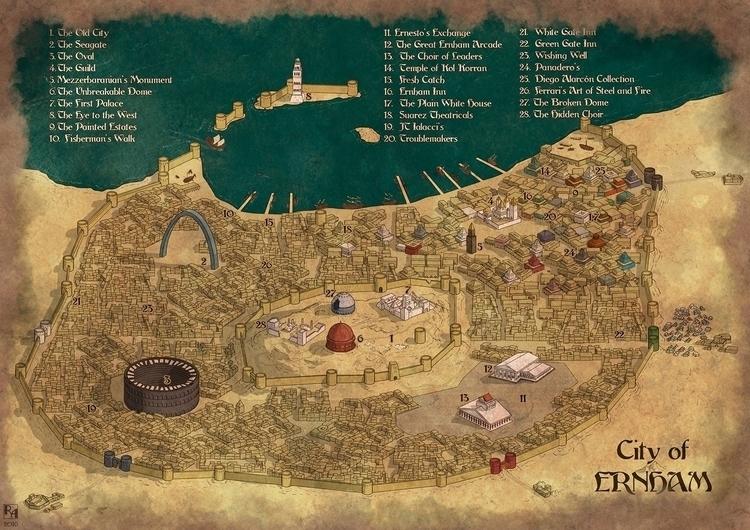 Ernham - Commissioned map - illustration - robertaltbauer | ello