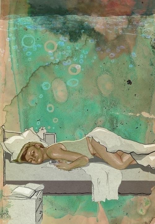 Summer dreams - illustration, woman - kasia_urbaniak | ello