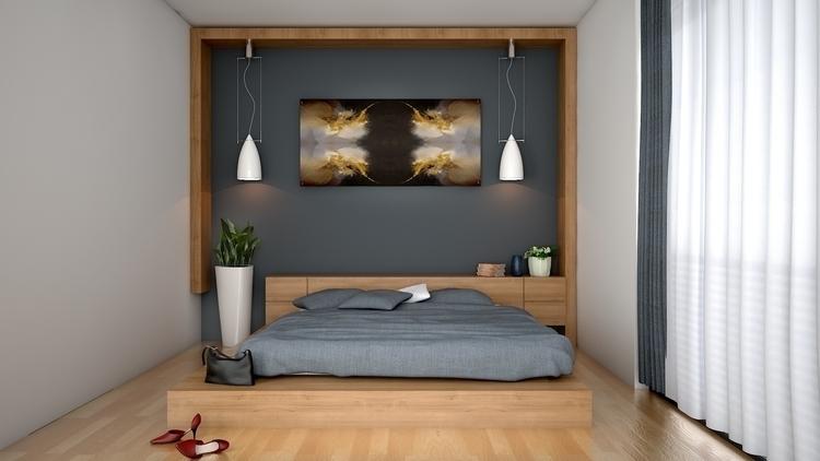 Simple Bedroom Design Idea - interiordesign - dhakadesigner | ello