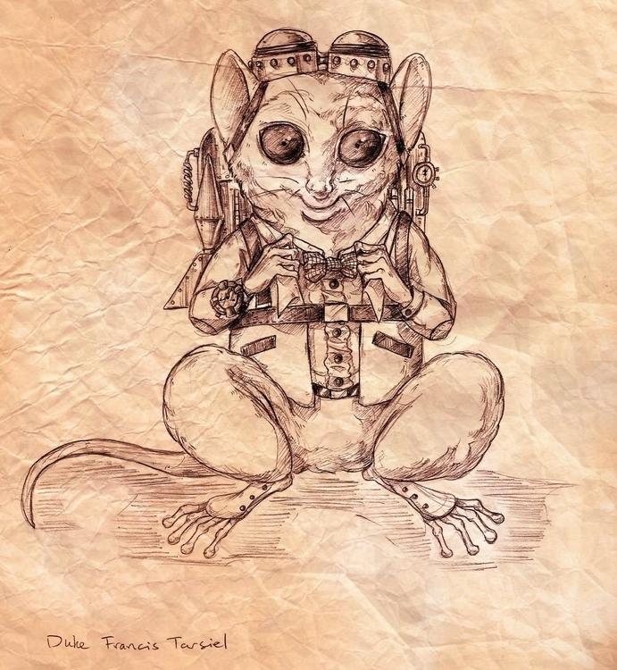 tarsier, animal, drawing, pencil - rainydaycloud | ello