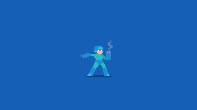 Day 46/365 - Mega Man - RandomCharacter - planckpixels | ello