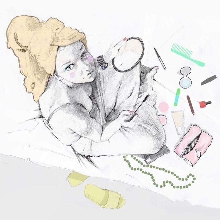 makeup, girl, cosmetics - kasia_urbaniak | ello